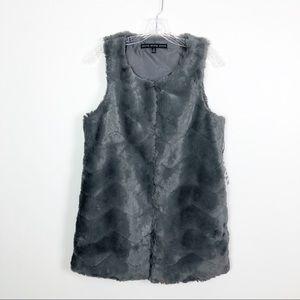 Hyfve Faux Fur Vest Grey NWT